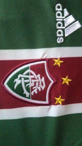 Camisa Fluminense Oficial Unimed 2009 Tamanho G Usada - Foto 5