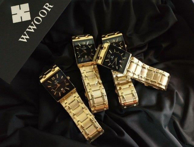 Relógio de Luxo Masculino Importado Wwoor - Aceitamos cartão
