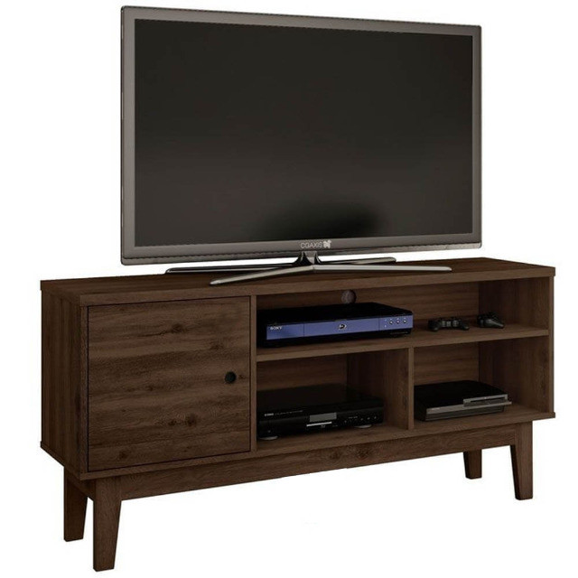 Rack para TV até 55 Polegadas 1 Porta Retrô Malbec Móveis Germai
