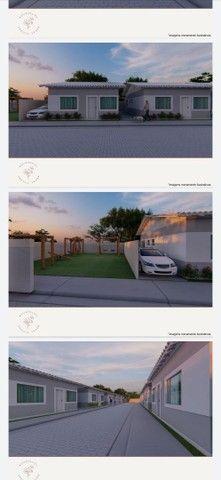 Vendo casa linear com 2 quartos sendo 1 suíte , area gourmet e garagem - Chácara Mariléa - Foto 3