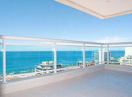 Barra: loft mobiliado vista frontal mar panoramica