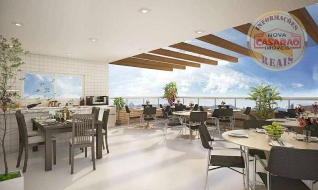Apartamento com 2 dormitórios à venda, 58 m² por R$ 299.700,00 - Canto do Forte - Praia Gr - Foto 8