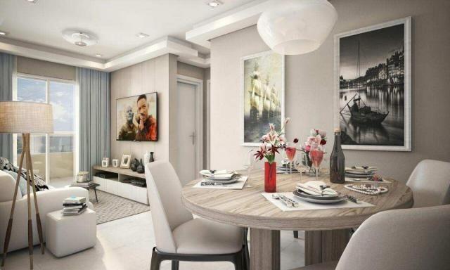 Apartamento com 2 dormitórios à venda, 58 m² por R$ 299.700,00 - Canto do Forte - Praia Gr - Foto 5
