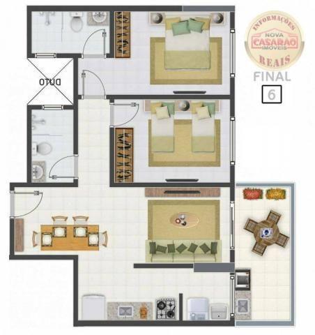 Apartamento com 2 dormitórios à venda, 58 m² por R$ 299.700,00 - Canto do Forte - Praia Gr - Foto 18