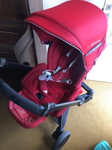 Conjunto carrinho, bebê conforto e Moisés imove Chicco