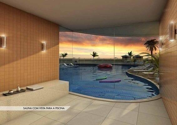 Frente ao mar espetacular 02 e 03 quartos com 03 suites e Coberturas Praia dos Anjos - Foto 13
