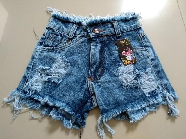 Short Jeans Feminino Alicia com elastano, numeração 36, 38, 40, 42 e 44 - Foto 4