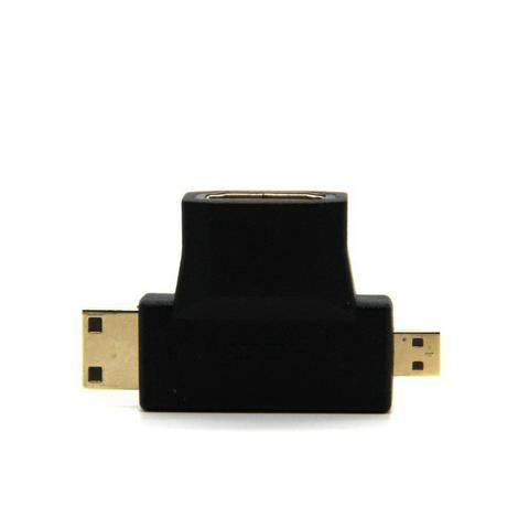 Conversor Adaptador Micro Hdmi E Mini Hdmi Macho Para Hdmi Femea (Duplo) - Foto 4