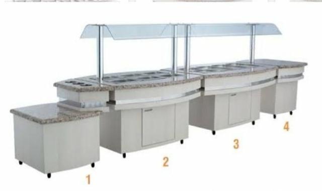 Conjunto de Buffet Frilux Luxo em MDF - Dino Garcia 47- *