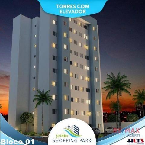 Apartamento com 2 dormitórios à venda, 45 m² por R$ 122.590,00 - Shopping Park - Uberlândi - Foto 2