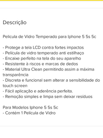 Película Iphone 5 5S 5G
