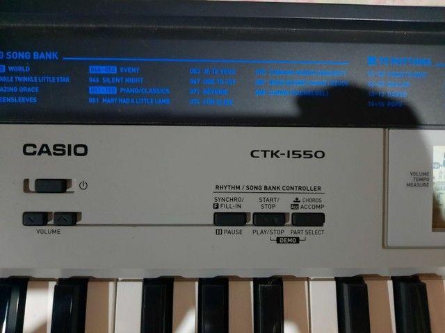 TECLADO SEMI-PROFISSIONAL CTK-1550 SEMINOVO (LEIA A DESCRIÇÃO)  - Foto 3