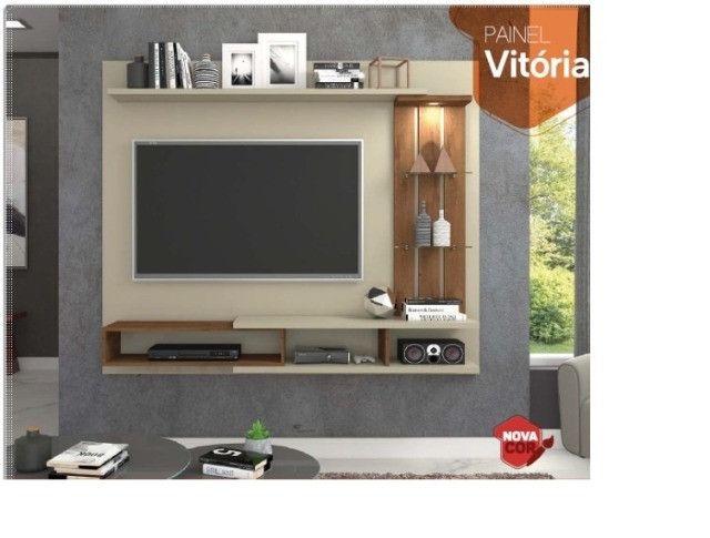 Rack suspenso modelo Vitória com LED embutido e aplique decorativo | NOVO