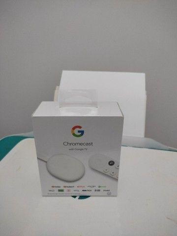 Google Chromecast com Google TV - Streaming Media Player em 4K HDR - Neve - Novo