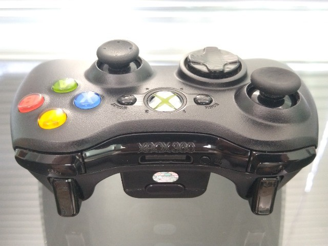 Controle Joystick Sem Fio Microsoft Xbox 360 Black - Foto 3