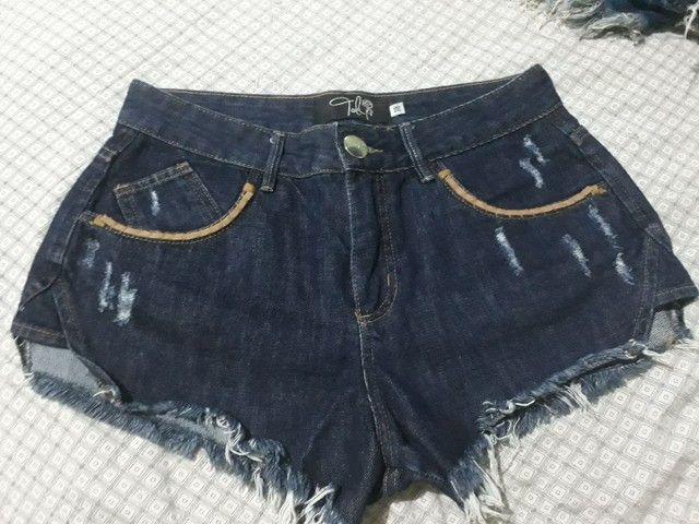 Shorts jeans tamanho 38