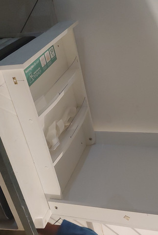 Trocador Fraldário de Bebe Vertical - Retrátil para fixar na parede - Foto 2