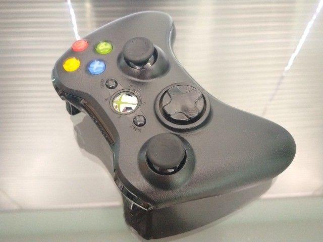 Controle Joystick Sem Fio Microsoft Xbox 360 Black - Foto 2
