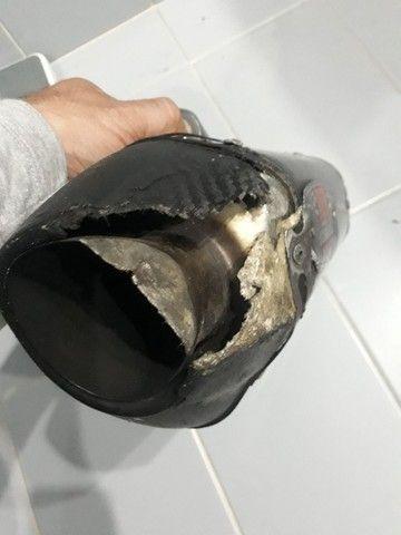 Ponteira descarga yoshimura fibra de carbono original  - Foto 4
