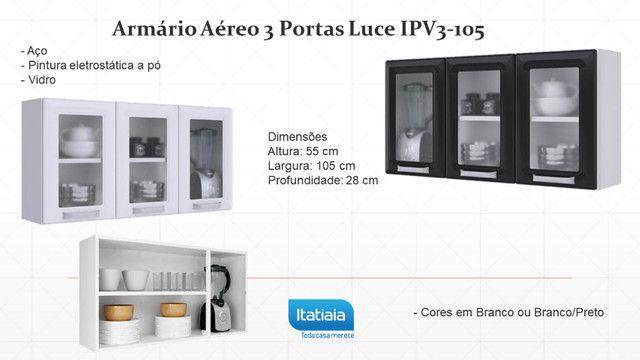 Armário Itatiaia R1039 Aéreo 3 Portas Luce IPV3-105 com 1,05 M - Foto 4