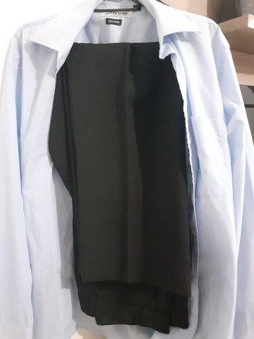Vendo terno impecável! Vai com a camisa da marca Tevah e a gravata de brindes. - Foto 3