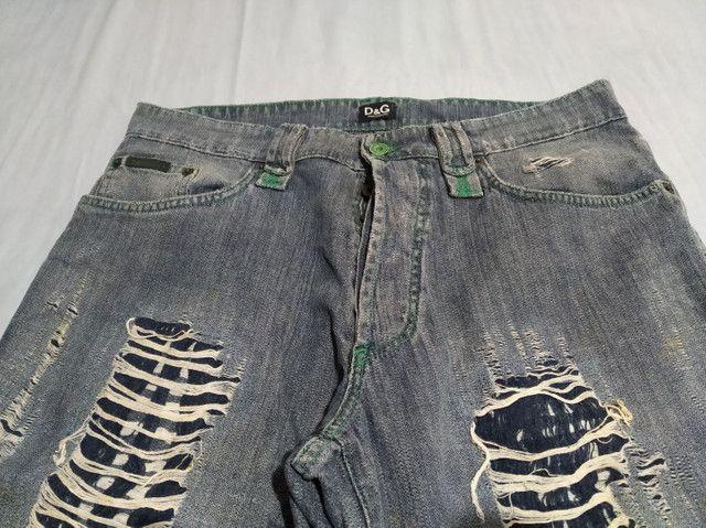 Calça Jeans D&G Made in Italy Masculino - Foto 2