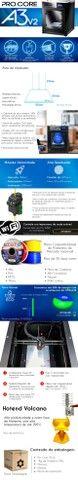 Impressora 3D Pro - GtMax 3d Core A3 + 1 Kg de Filamento ABS - Foto 2