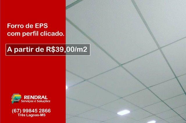 Forro de EPS a partir de R$39/m2