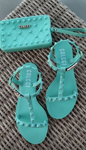 Kit sandália e carteira  - Foto 3