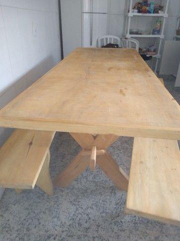 Mesa com bancos para churrasqueira - Foto 3