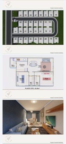 Vendo casa linear com 2 quartos sendo 1 suíte , area gourmet e garagem - Chácara Mariléa - Foto 7
