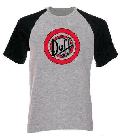 Camiseta Raglan Duff The Simpson - FRETE GRÁTIS<br><br> - Foto 2