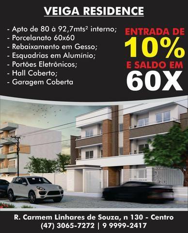 Apartamento Centro de Navegantes / 10% de entrada + 60x