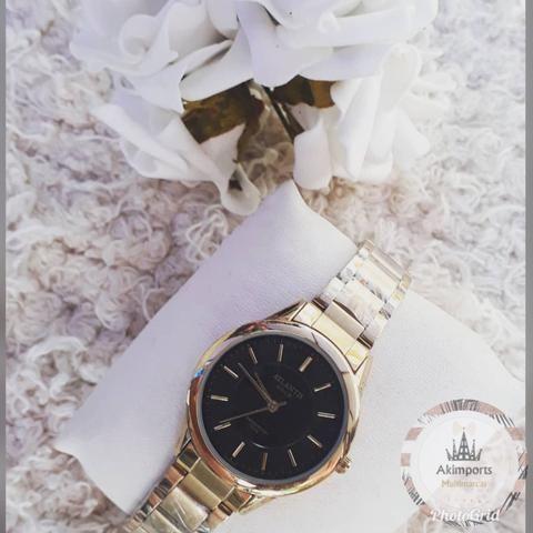 2ac2afd0867 Relógios Atlantis Quartz com mostrador dourado - Bijouterias ...
