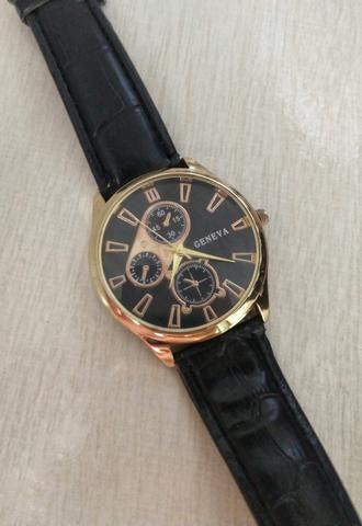 a5f28c7ed61 Relógio Geneva com pulseira de couro - Bijouterias