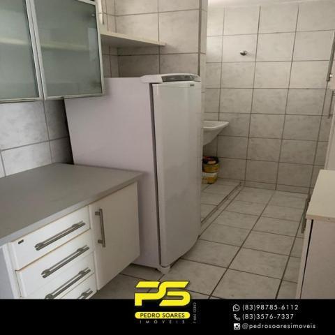 Apartamento com 3 dormitórios à venda, 73 m² por R$ 400.000 - Tambaú - João Pessoa/PB - Foto 4