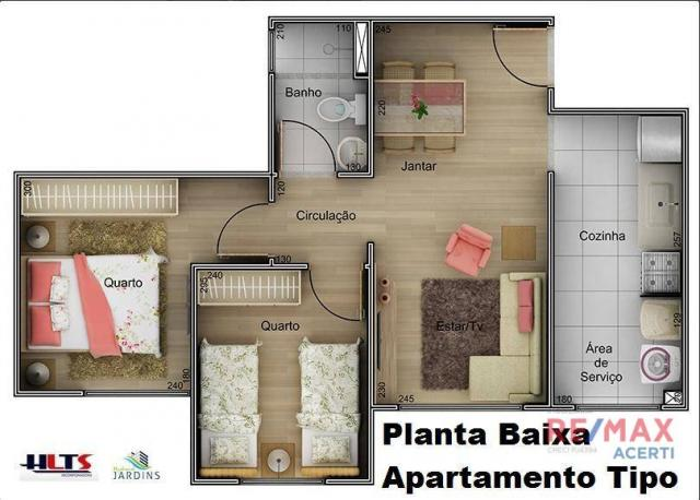 Apartamento com 2 dormitórios à venda, 45 m² por R$ 122.590,00 - Shopping Park - Uberlândi - Foto 5
