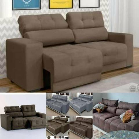Sofá retrátil e reclinável direto da fábrica - Móveis ...