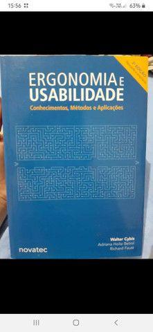 """Livro """"Ergonomia e Usabilidade"""". Novo."""
