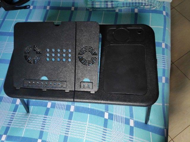 Mesa/suporte p/ notebook com 2 cooler, dobrável - Mesa Note - Foto 3