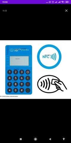 Maquininha mini point via bluetooth  tela ancende com pagamento com aproximação. - Foto 4