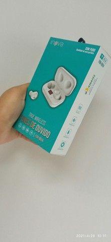 Fone de ouvido sem fio bluetooth  teus wireless  - Foto 3