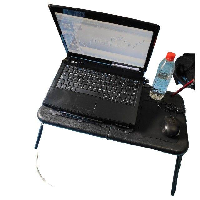 Mesa/suporte p/ notebook com 2 cooler, dobrável - Mesa Note