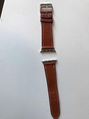 Pulseira de couro para Apple Watch 38 e 40 mm