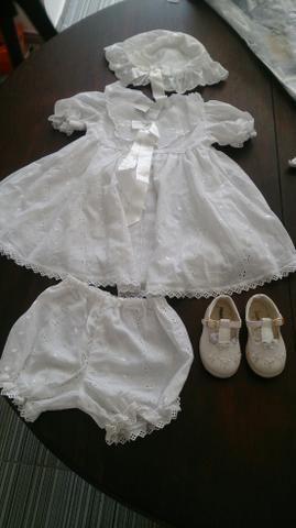 Conjunto roupa batismo