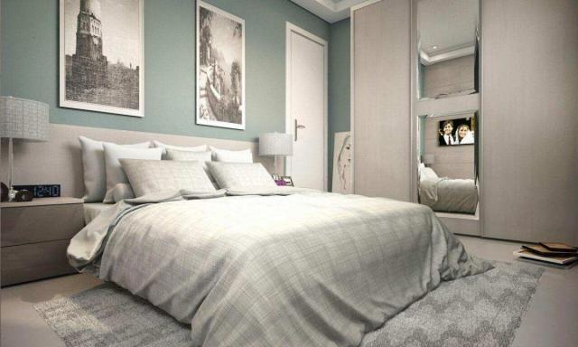 Apartamento com 2 dormitórios à venda, 58 m² por R$ 299.700,00 - Canto do Forte - Praia Gr - Foto 2