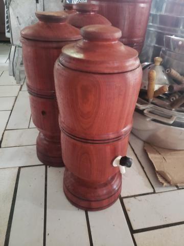 Filtro de madeira rústica