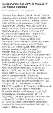 Roteador Wireless Tp link 300mbps - Foto 5
