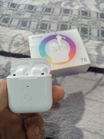 QCY T8 TWS  - Fone Bluetooth + Capa Emborrachada