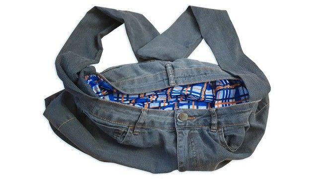 Bolsa Jeans Artesanal - Foto 2